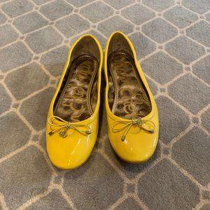 Women's Sam Edelman yellow ballet flats size 6.5